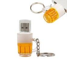 USB stick pendrive cute Beer mug pen drive 4GB 8GB 16GB 32GB 64GB 128GB memoria usb mini computer gift flash