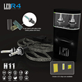 1 set H11 Xenon white R4 Super Bright 9600lm White 6000K Car LED Headlight Conversion Kit 4800lm Bulb