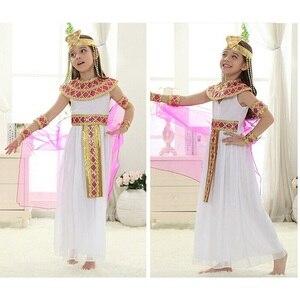 Image 4 - Halloween  Arabian Egypt Princess Dress Girl Cute Queen Dress Cosplay Carnival Party Beautiful Kids Children Cosplay Costume