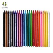 Получить скидку Конда 24 шт. безлесная Цветные карандаши Акварель картина нетоксичных водорастворимый масло карандаш перо Soft-core -предварительно заостренный
