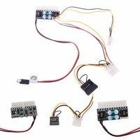 DC 12V 160W 24 Pin ATX Switch PSU Car Auto Mini ITX Power Supply Module Cable