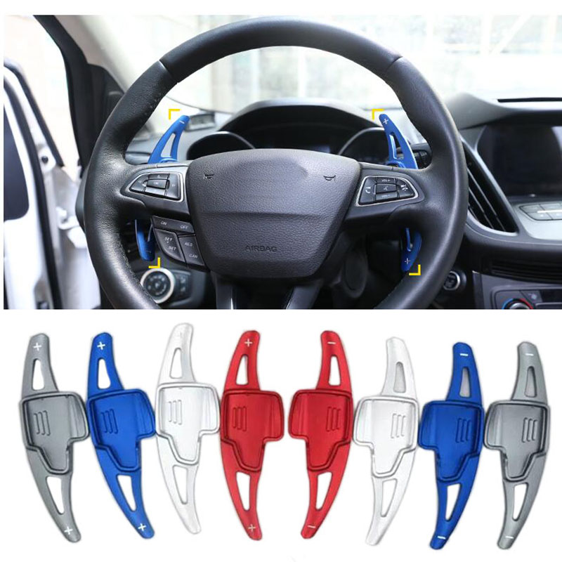 For Ford Focus 2015-2018 Ford Kuga2016-2019 Aluminium Steering Wheel Shift Paddle Shifter Extension Car Gearbox sticker