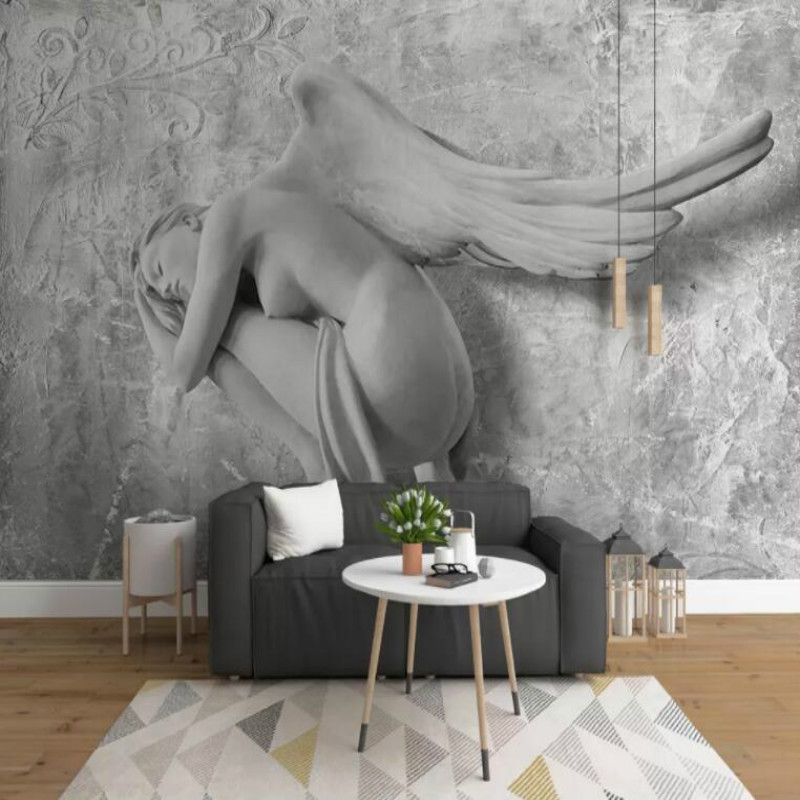 3D embossed beauty angel Wallpaper for Walls 3d TV Background Painting Mural Wallpapers Home Improvement Decorate 3D embossed beauty angel Wallpaper for Walls 3d TV Background Painting Mural Wallpapers Home Improvement Decorate