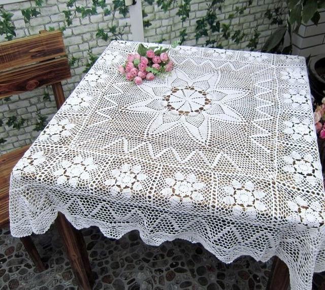 Nueva Navidad cuadrados de algodón crochet pastoral Hollow mantel ...