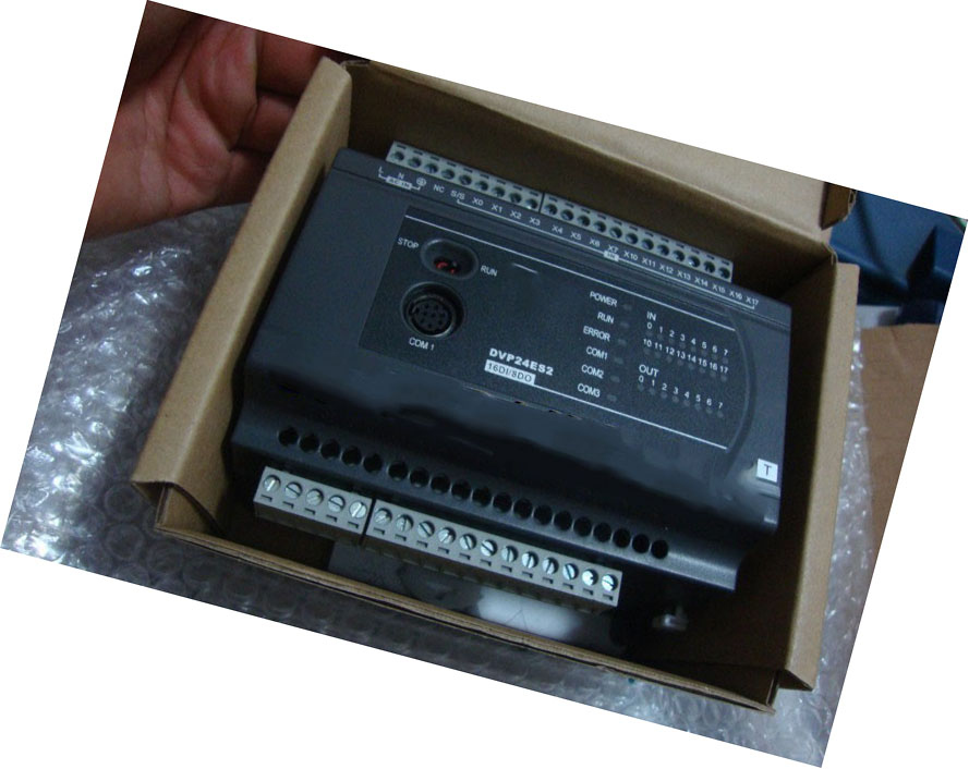 New Original DVP24ES200T PLC ES2 series 100-240VAC 16DI 8DO Transistor output 24input 16 transistor output plc cpu226t 40 replace s7 200 6es7216 2ad23 0xb0 support original expansion module new