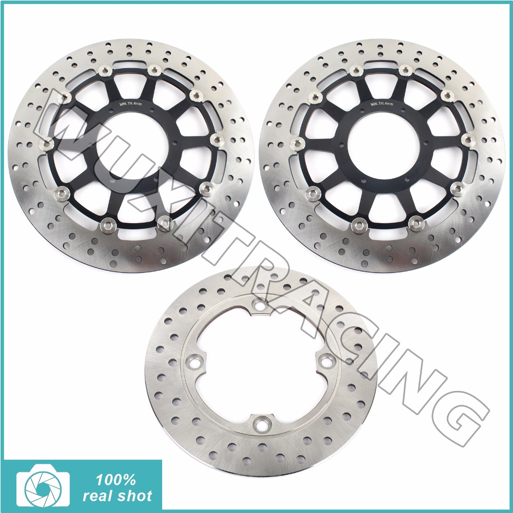 Motorcycle New Full Set Front Rear Brake Discs Rotors for HONDA VTR 1000 VTR1000 SP1 SP2 2000 2001 2002 2003 2004 2005 2006 2007 hot sales for honda vtr1000f 97 05 1997 1999 2000 2001 2002 2003 2004 2005 vtr1000 f vtr 1000 f 1000f full red fairings