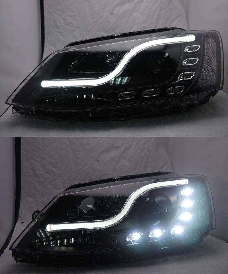 Sports Grade S Curve LED DRL Light Bar Headlight for 2012 VW Jetta Sagitar