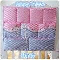 Акция! китти Микки 62*52 см 100% Хлопок организатор кроватки Детские кровати висит хранения пеленки мешок