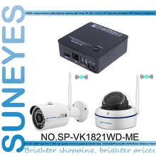 SunEyes SP-VK1821WD-ME 2CH Mini IP CCTV Camera Kit with one pcs Wireless Dome and one pcs Bullet IP Camera Outdoor 1080P HD P2P