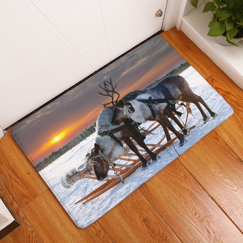 Cartoon Flannel Carpet The Guardian Of The Prairie Printing Mat For Living Room 40x60cm 50X80cm Door mat Rectangle Tapete