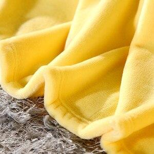 Image 5 - Очень мягкое одеяло из кораллового флиса, однотонное, желтое, Двухслойное, двухъярусное, размер, плед, покрывало, Cobertor