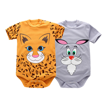 Newest Baby Romper Short Sleeves 2 Pieces 100% Cotton Cute Cartoon Printed Newborn Girls Boys Toddler Infant Clothes 0-18M