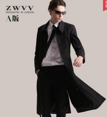 Ankle Length Coat Men...