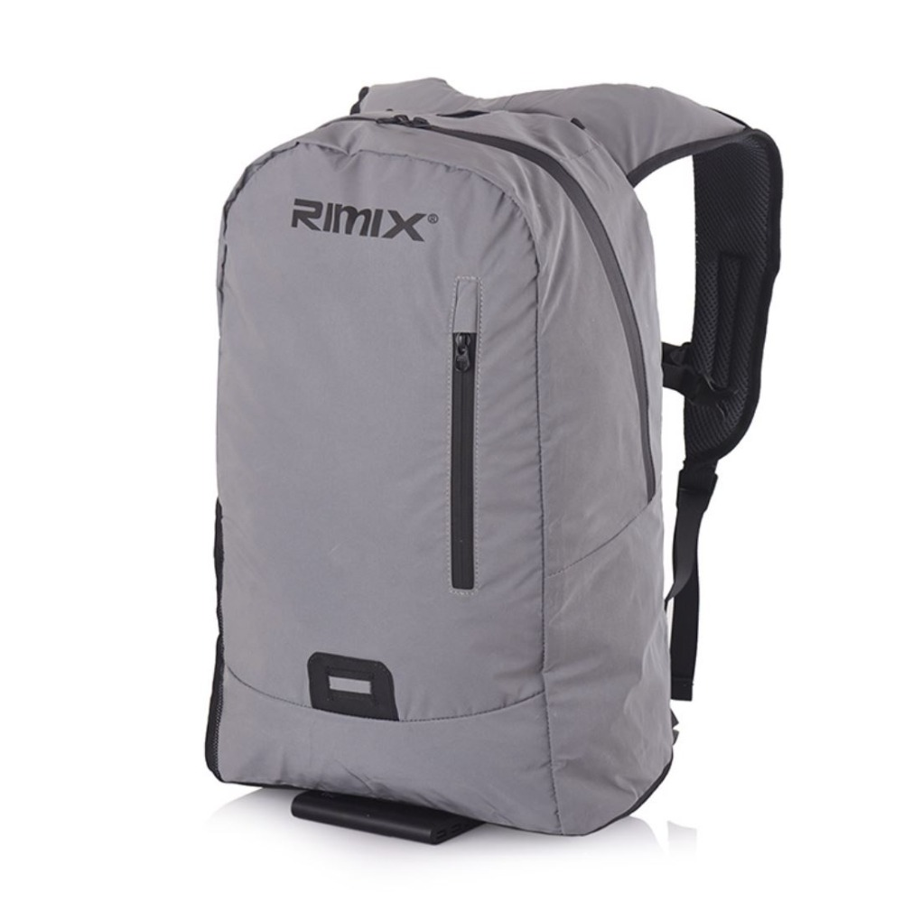 RIMIX 100 Reflective Soft Shell Travel Backpack Lightweight Water Resistant For Durable Hiking Camping Outdoors Computer