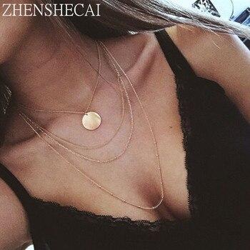 New fashion trendy jewelry copper choker multi layer necklace