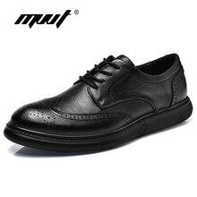 New Size 46 Genuine Leather Shoes Men Casual Shoes Fashion Men Flats Shoes Soft Comfot Men Brogue Shoes Zapatos Hombre недорго, оригинальная цена