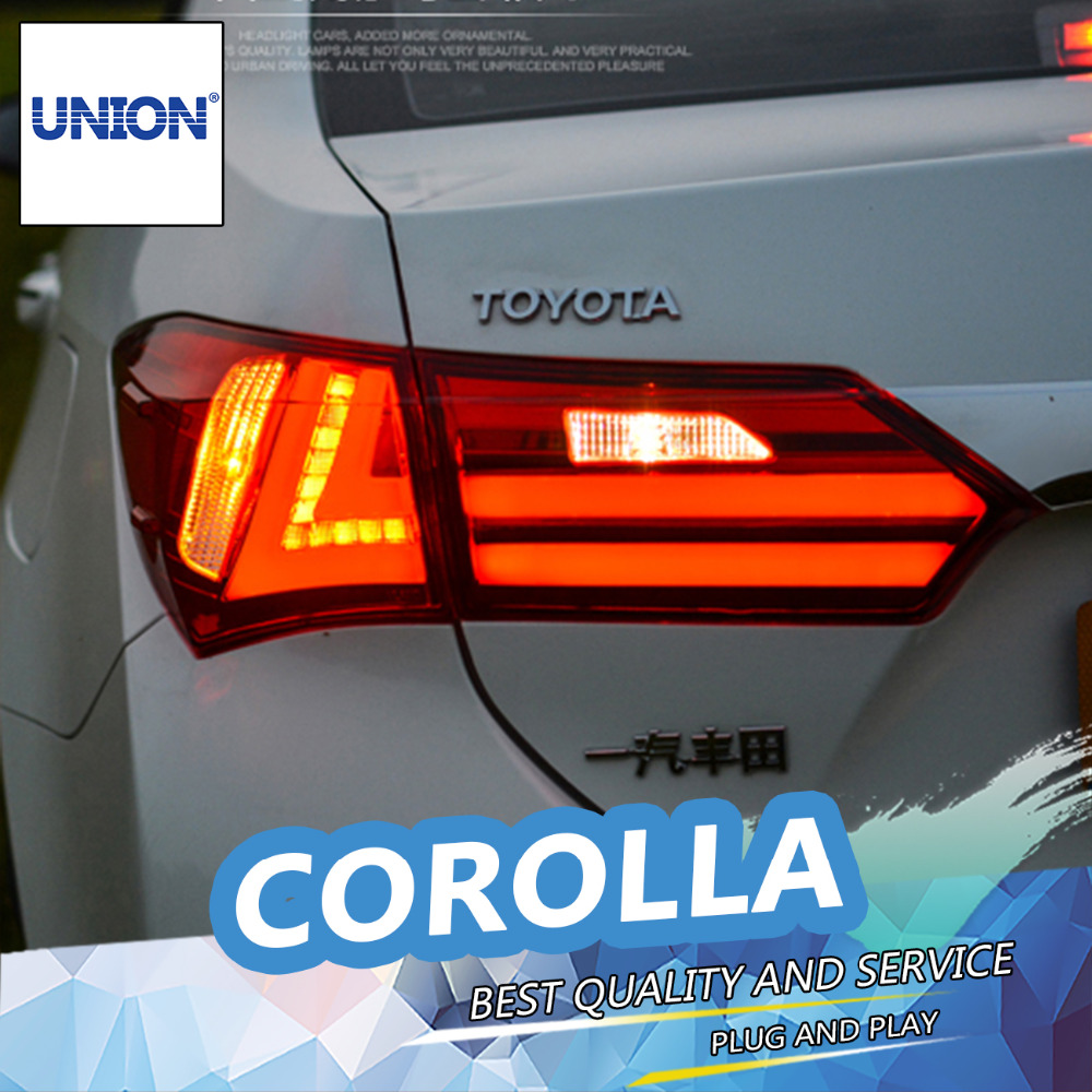 UNION Car Styling for 2014 Corolla Taillights New Corolla Altis LED Tail Lamp Altis Rear Lamp DRL+Brake+Park+Signal led light union car styling for 2014 corolla taillights new corolla altis led tail lamp altis rear lamp drl brake park signal led light