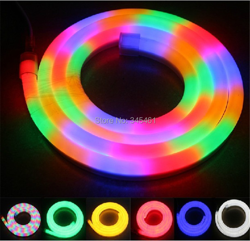 100meterroll energy saving led flexible tube neon light 80 led 100meterroll energy saving led flexible tube neon light 80 led beadsm multi color rainbow tube high quality led flexible rope in led strips from lights mozeypictures Images