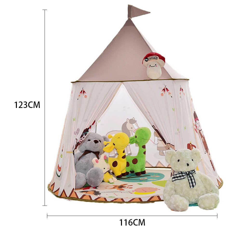 Prinzessin Schloss Cartoon Zelte Tragbare Kinderzimmer Outdoor Garten  Spielen Tipi Tipi Zelt Lodge Kinder Bälle Pool Spielhaus
