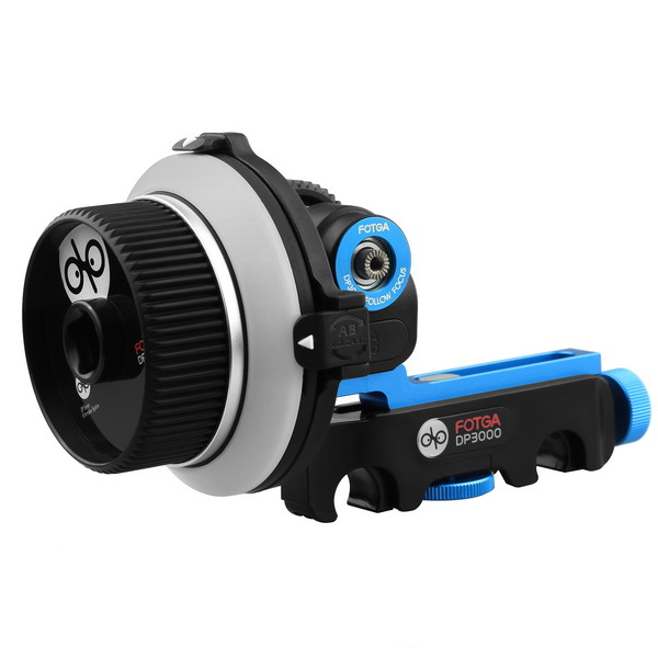 FOTGA DP3000 M3 DSLR Quick Release Clamp Follow Focus for 15mm Rod Rig 5D II III fotga dp500iii 15mm to 19mm rail rod clamp adapter for dslr qr follow focus rig f21812