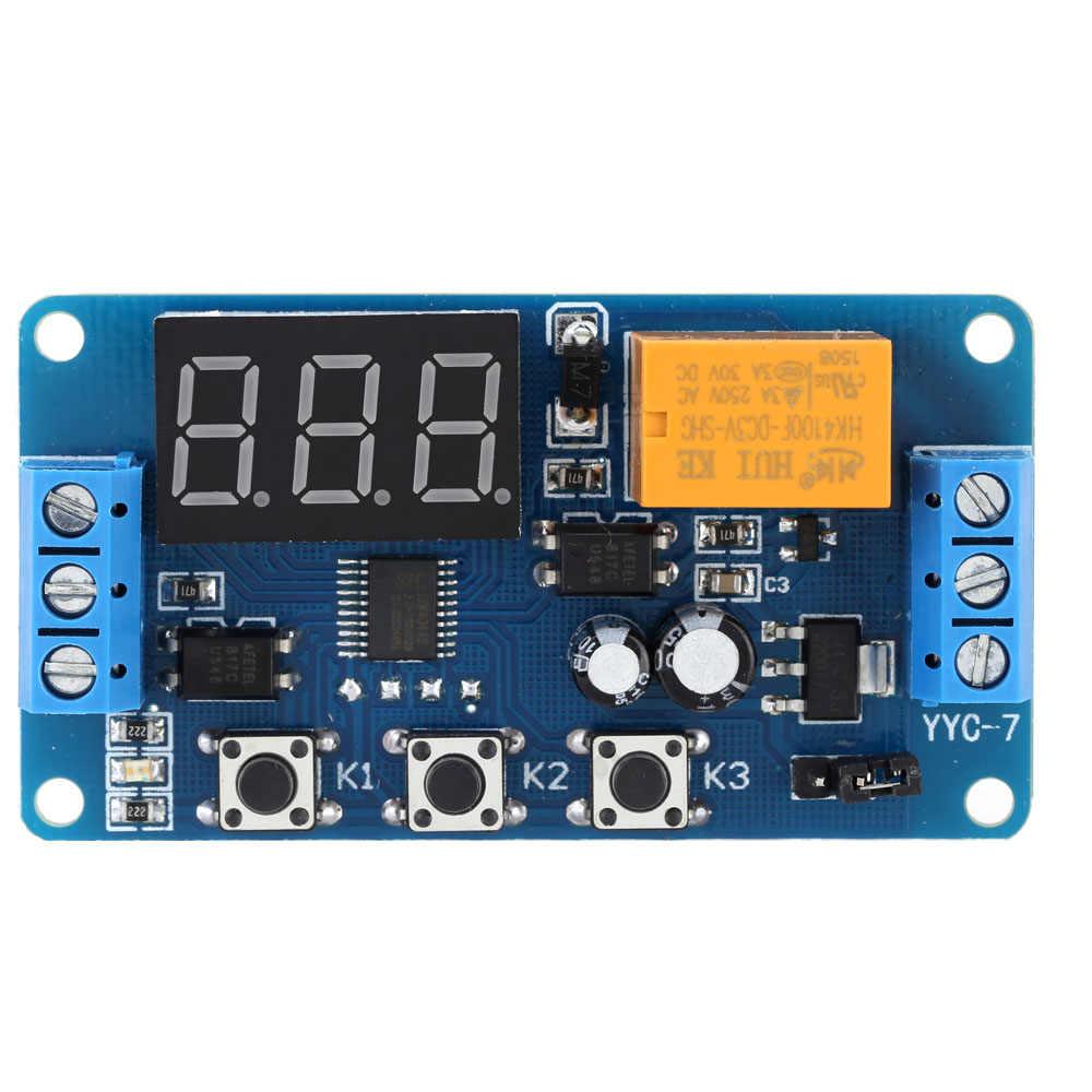 Светодиодный дисплей Автоматизация цифровой задержки таймер управления релейный переключатель модуль rele 3 V/3,7 V/4,5 V/5 V/6 V