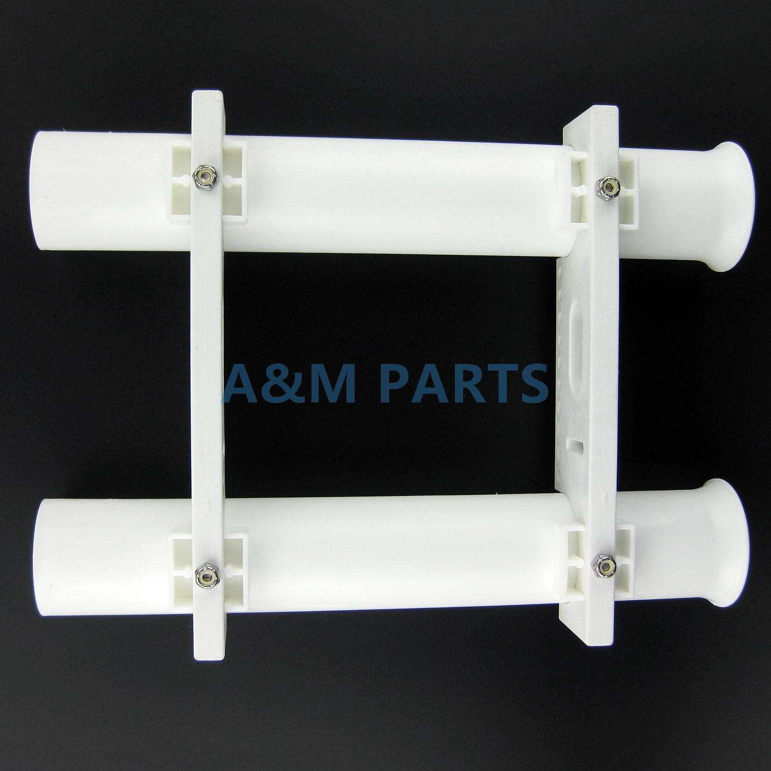 4Pcs 12 Inch Boat Fishing Rod Holder Boat Marine Plastic White Tube Mount Rack
