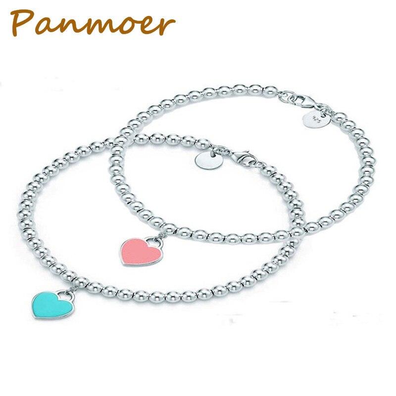 Heart Shaped Pendant Bracelet Tiff Jewelry 925 Sterling Silver Pendant Charm Brand Tiff Design For Women Logo Fine Jewelry цена
