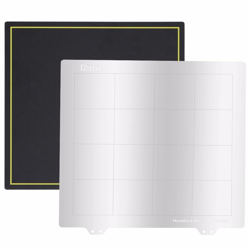 Surface de construction de lit de chaleur magnétique de 235X235mm + plate-forme de lit de chaleur de tôle d'acier de ressort plaque de construction d'impression de l'imprimante 3D pour Ender-3 GT A10