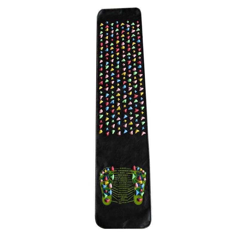 Coussin de Massage des pieds en plastique coussin de Massage plantaire branche médiale feuille colorée Acupuncture tapis de Yoga pavé 175*35 cm vente