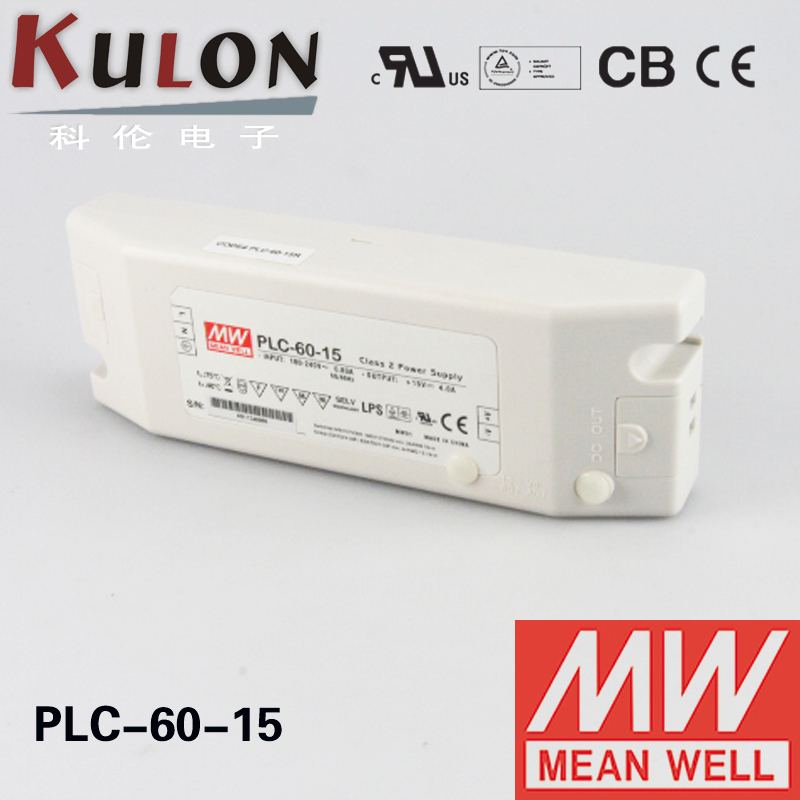 Mean well PLC-60-15 Power supply Adjustable LED Driver Single Output 60w 15v 4a [cheneng]mean well original plc 60 15 15v 4a meanwell plc 60 15v 60w single output led power supply