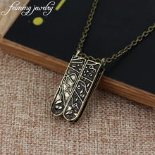 feimeng jewelry Lolita Vintage GRIMM Key Necklace Mechanical Nick Burkhardt Fashion Accessories For Women Charm Pendant