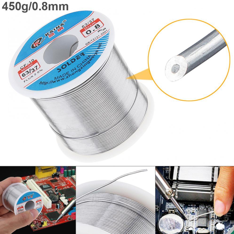63//37 50g 0.8mm Tin Fine Core 2/%Flux Reel Welding Line Solder Wire for Soldering