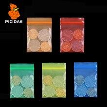 Цвет красный, синий, зеленый, оранжевый, желтый, миниатюрный замок-молния, пластиковый пакет, пищевая фасоль, ювелирное изделие, PE, самозапечатывающаяся маленькая посылка