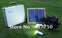 popular solar power 10W led Lighting Sysetem used for emergency outdoor lighting
