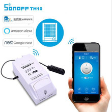 ITEAD Sonoff TH10 WiFi Good Change Good Dwelling Temperature And Humidity Sensor Distant controller DS18B20 AM2301 By way of Smartphone