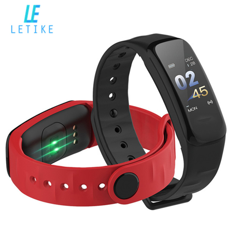 Letike C1s blood pressure Smart Bracelet Color-screen Fitness Tracker Heart Rate Monitor sleep tracker Wristband For Android IOS все цены