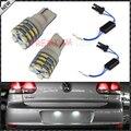 2 pcs Xenon Branco SMD T10 W5W 2825 168 194 Lâmpadas LED além de Placa de Licença Livre de Erros T10 Adaptadores Para Volkswagen GTi MK6 luzes