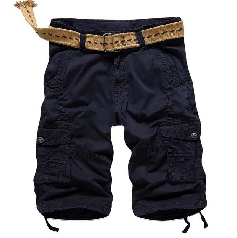 HOT 2019 Summer hot style men 39 s casual men Men 39 s trousers tooling multi pocket Cargo bermudas masculina military short homme in Casual Shorts from Men 39 s Clothing