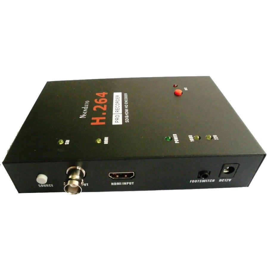 Nsendato 286 SDI HDMI H 264 Pro HDMI Recorder Box With Remote Control Support USB SD