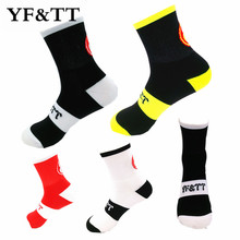 YF&TT Breathbal Men Women Cycling Riding Socks Sports Running Basketball Football Socks 4 Colors Fit for 40-46