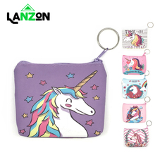 Cartoon Unicorn coin purses women mini wallets cute card holder ladies key money bags for girls purse Female kids children pouch highreal hot sale cute women coin purse girls fashion kids purse mini wallets money bag change pouch female coin key holder port