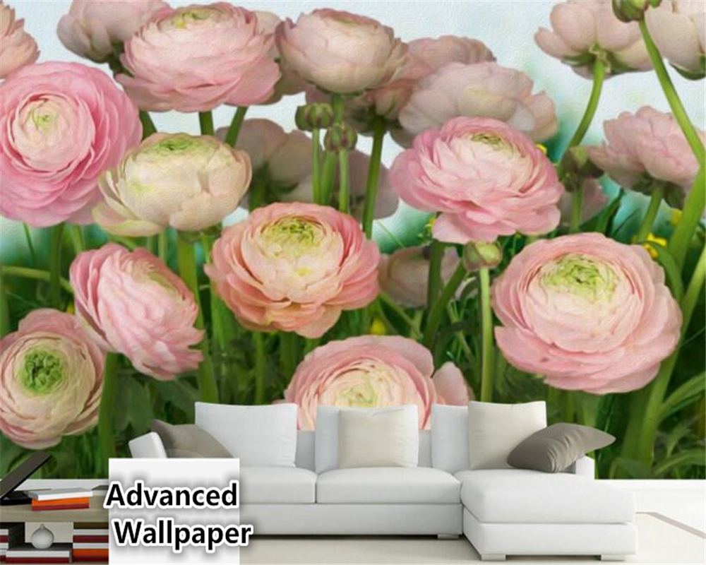 beibehang Fashion Premium Fantasy 3d Wallpaper Romantic Oil Painting Rose Flower Floral Mural TV Background Wall papel de parede beibehang papel mural arrival romantic warm dandelion wedding decor 3d wallpaper non woven wallpapers mural floral wall pape