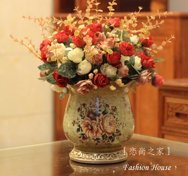 Fashion Luxury Vintage Dining Table Coffee Table Decorative Vase