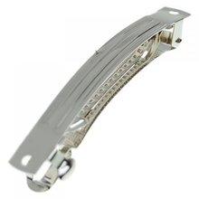 50 шт 50 мм Металлические французские заколки для волос в форме бантиков-серебро