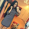2017 Hot Women Vintage Cross Plaid Print O neck 3/4 Long Sleeve Casual Straight Dress