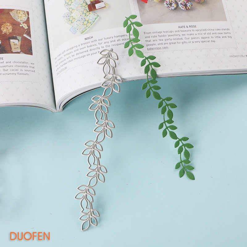 DUOFEN METAL CUTTING DIES 070116 vine leaves border Stencils dies for DIY craft projects Scrapbooking embossing Paper Album