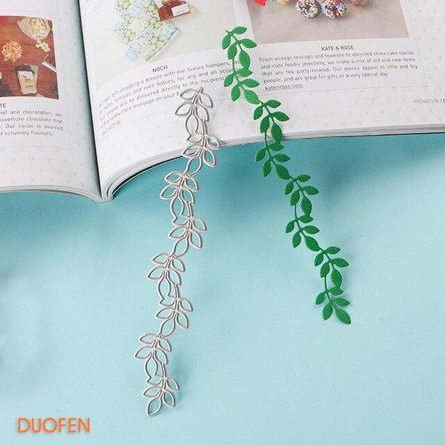 DUOFEN METAL KESME ÖLÜR 070116 asma yaprağı sınır Şablonlar ölür için DIY el sanatları projeleri Scrapbooking kabartma Kağıt Albümü
