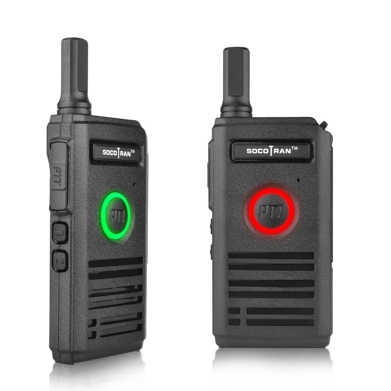 Ultra Slim Walkie Talkie UHF Rechargeable Mini Smart Two-Way Radios Fashion Portable 2 Way Radio With Dual PTT & Breathing Light