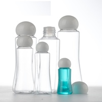 30PCS Clear Plastic PETG Cosmetic Container Bottles Round lid Ball Cap Liquid Cream Cosmetic Container Packaging 15ml 30ml 50ml