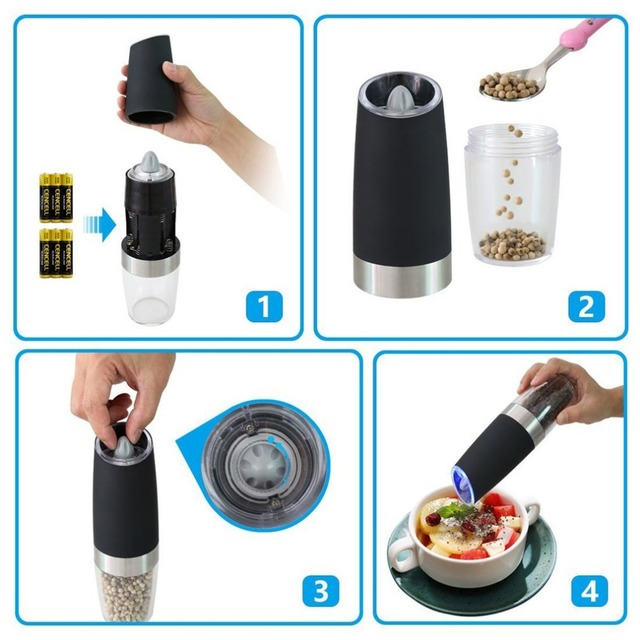 Kitchen Electric Gravity Pepper Grinder